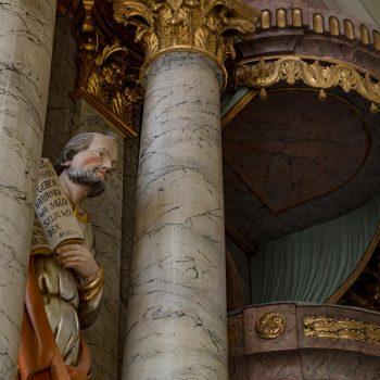Bad Berneck Dreifaltigkeitskirche: Blick Richtung Kanzelaltar